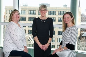 NERCOMP staff image: Amy Schack, Lisa DiMauro, Ananda Jones